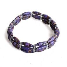 Imani Workshops 3-Strand Magazine Bracelet Purple