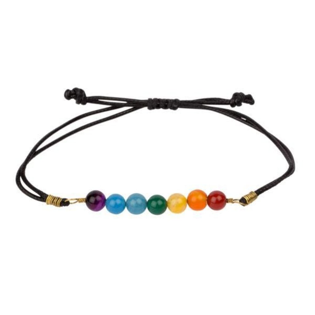 Ten Thousand Villages 7 Vibes Bracelet Rainbow