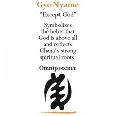 Global Mamas Adinkra White Star Gye Nyame Ornament