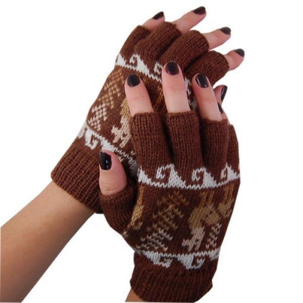 Minga Imports Alpaca Blend Fingerless Gloves Assorted
