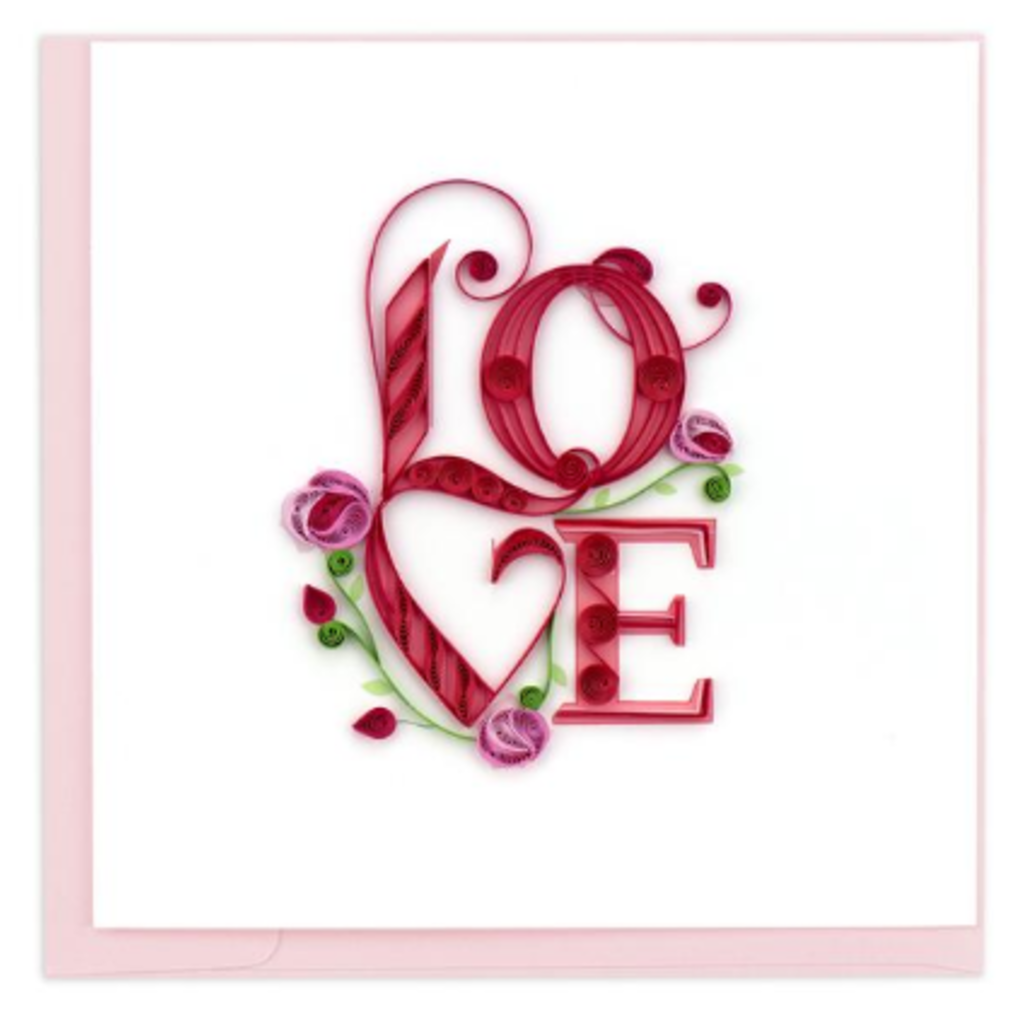 Quilling Card Love Lettering Quilling Card