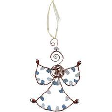 Global Mamas Beaded Blue Angel Ornament