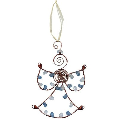 Global Mamas Beaded Blue Angel Ornament
