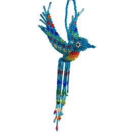 Unique Batik Beaded Hummingbird Ornament