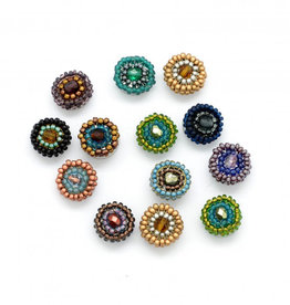 Dunitz & Co Beaded Rainbow Dots Stud Earrings