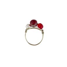 Unique Batik Beaded Wire Ring
