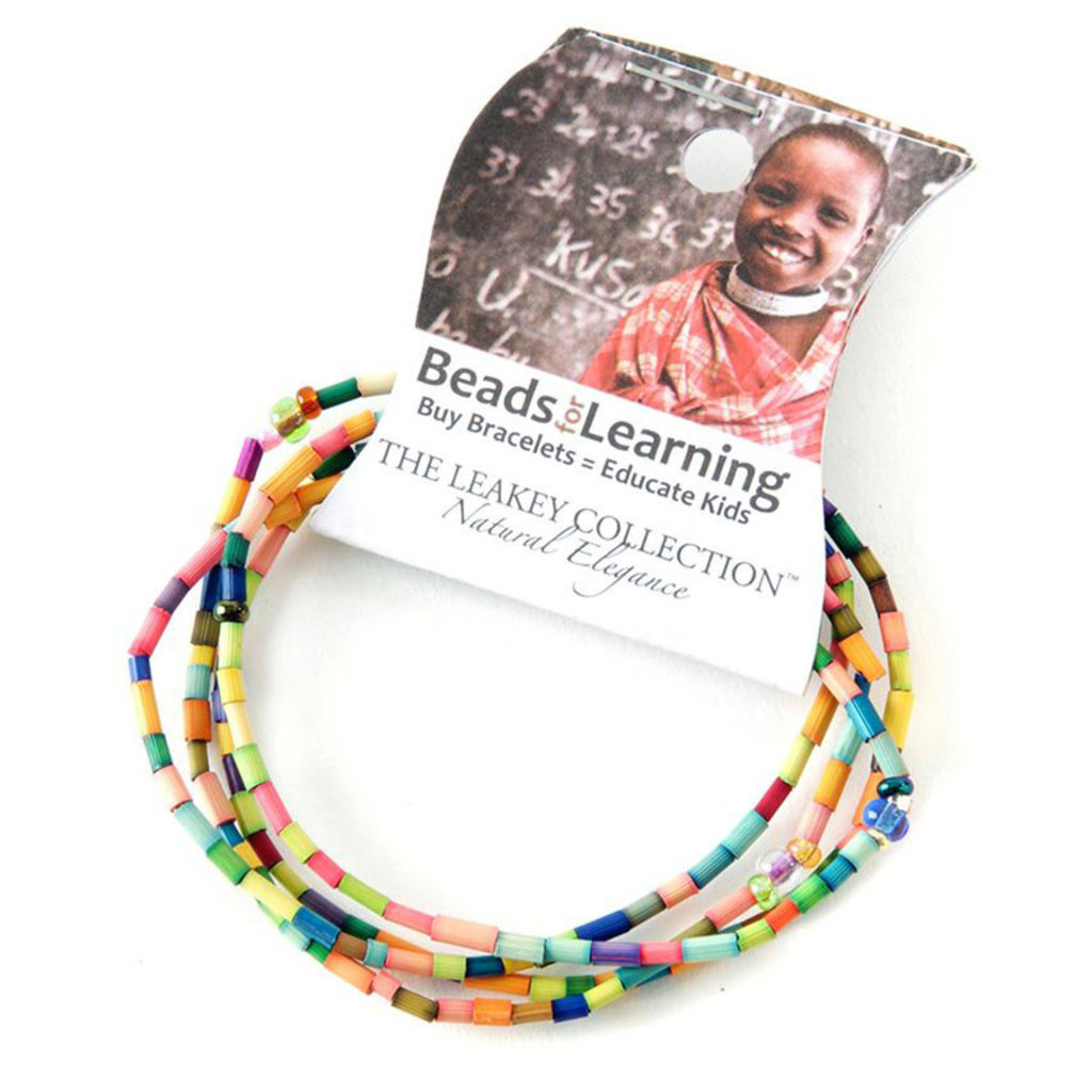 Swahili Imports Beads For Learning Bracelet Multicolor