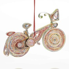 Serrv Bicycle Recycle Paper Ornament