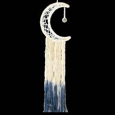 DZI Handmade Big Blue Moon Dream Catcher