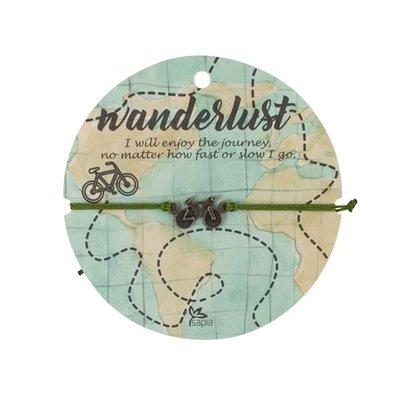 Ten Thousand Villages Bike Charm Bracelet with Card