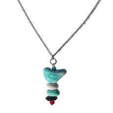 Creation Hive Bird Pebble Necklace