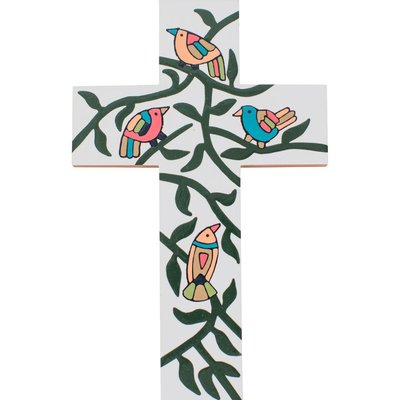Ten Thousand Villages Birdsong Painted Cross