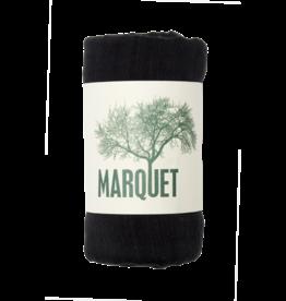 Marquet Fair Trade Black Binh Minh Silk and Cotton Shawl