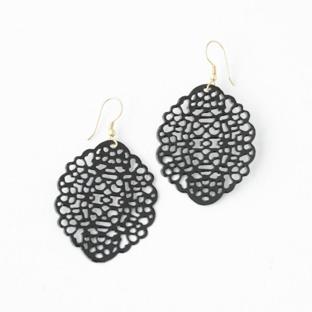 Fair Anita Black Lace Nickel-Free Earrings