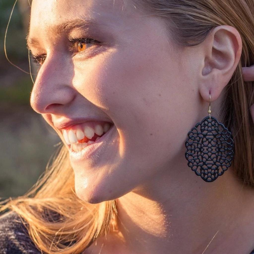 Fair Anita Black Lace Nickle-Free Earrings
