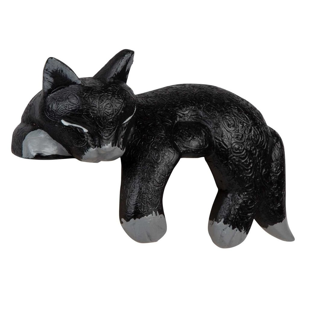 Ten Thousand Villages Black Napping Shelf Cat