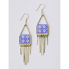 Mata Traders Blue Allegory Earrings