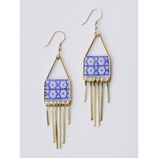 Mata Traders Blue Allegory Earrings