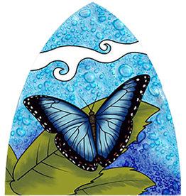 PamPeana Blue Butterfly Fused Glass Night Light