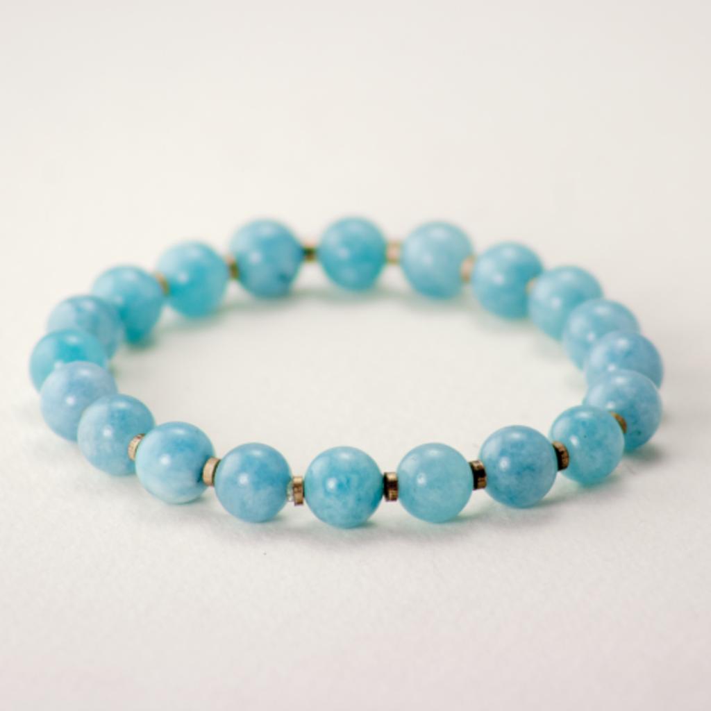 DZI Handmade Blue Chalcedony Stones Bracelets