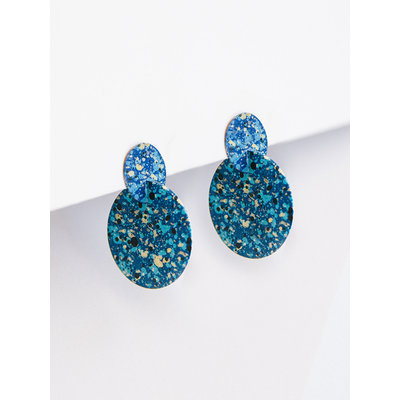 Mata Traders Blue Interstellar Stud Earrings