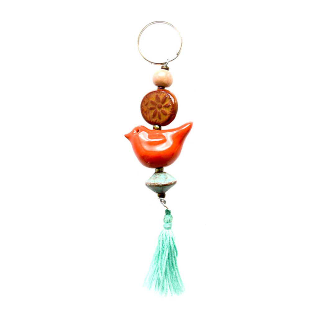 Creation Hive Boho Bird Keychain