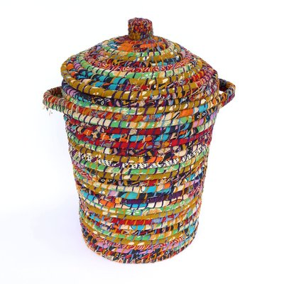 Ten Thousand Villages Bright Day Recycled Sari Hamper