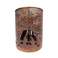 Ten Thousand Villages Bright Nativity Metal Candleholder