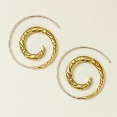 DZI Handmade Brocade Spiral Earrings