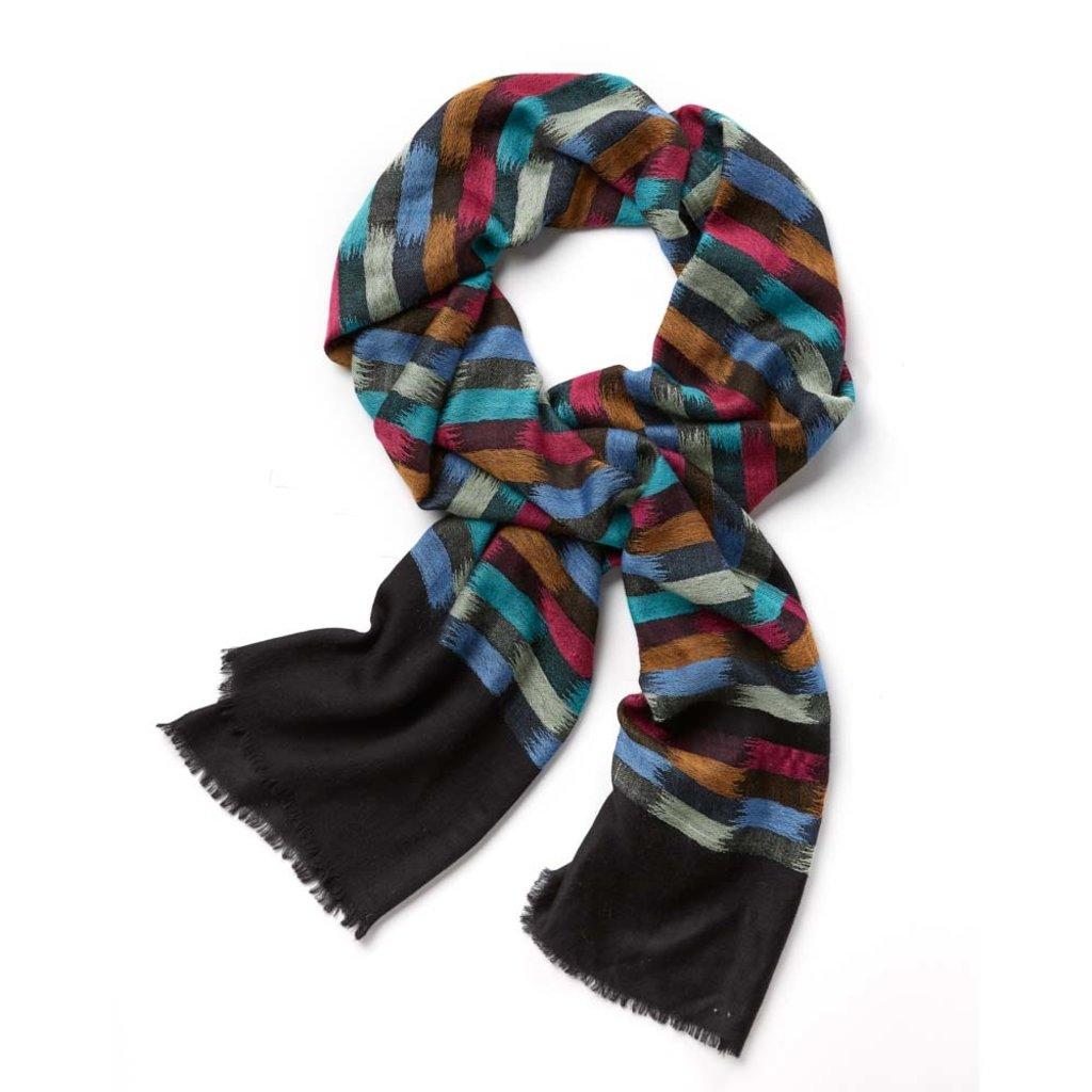 Serrv Brushstroke Kashmiri Wool Shawl