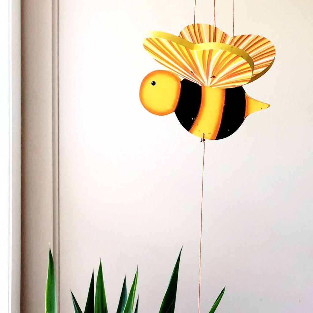 Tulia's Artisan Gallery Bumble Bee Flying Mobile