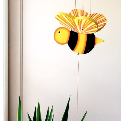 Tulia's Artisan Gallery Flying Mobile: Bumble Bee