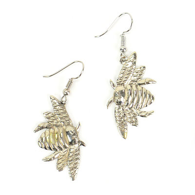 Minga Imports Bumblebee Alpaca Silver Earrings