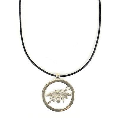 Minga Imports Bumblebee Alpaca Silver Necklace