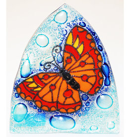 PamPeana Butterfly Fused Glass Night Light