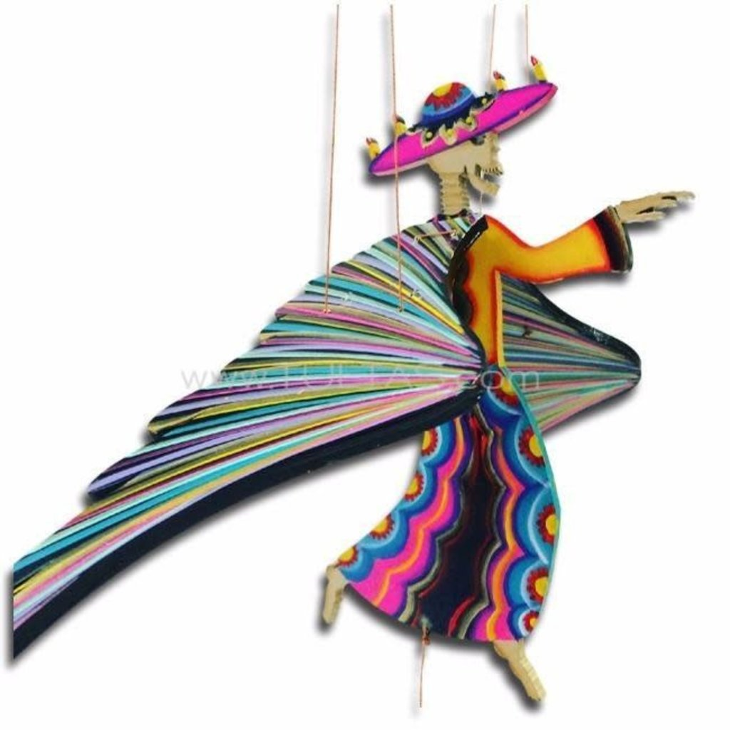 Tulia's Artisan Gallery Flying Mobile: Day of the Dead
