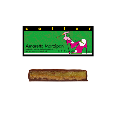 Zotter Chocolate Amaretto Marzipan Hand-Scooped Chocolate