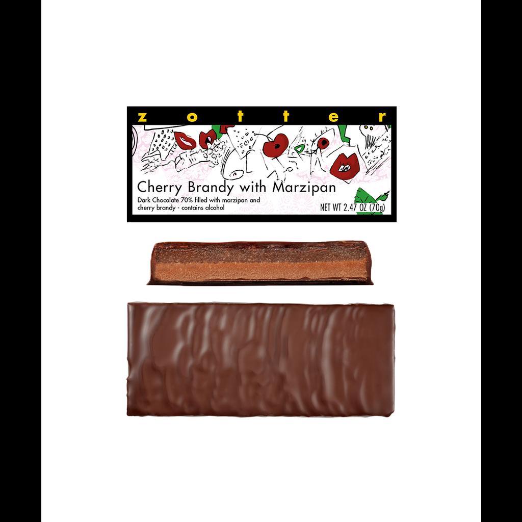 Zotter Chocolate Cherry Brandy Marzipan Hand-scooped Chocolate