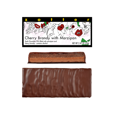 Zotter Chocolate Cherry Brandy Marzipan Hand-Scooped Chocolate