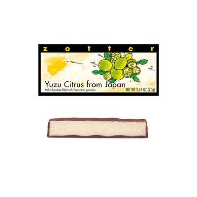 Zotter Chocolate Yuzu Citrus Hand-Scooped Chocolate