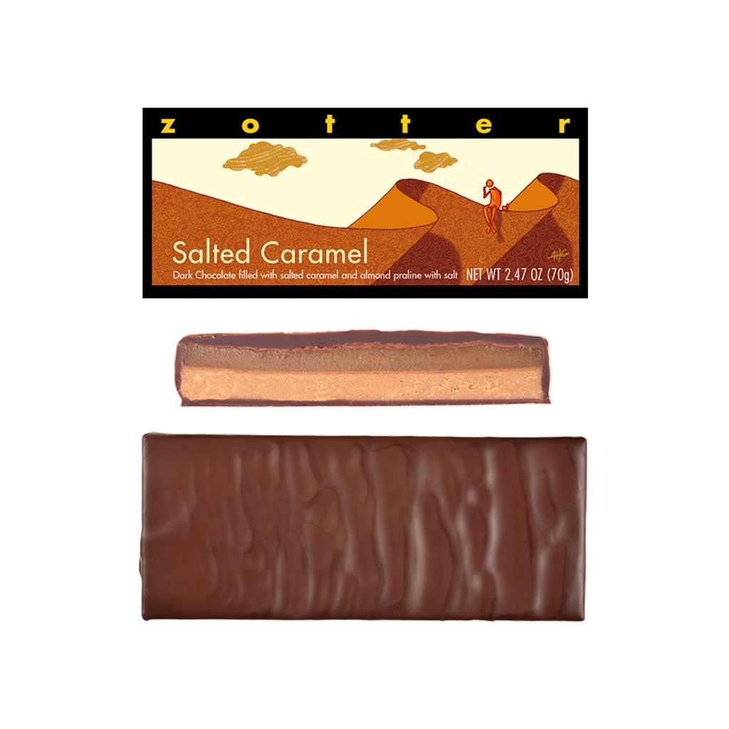 Zotter Chocolate Salted Caramel Hand-scooped Chocolate