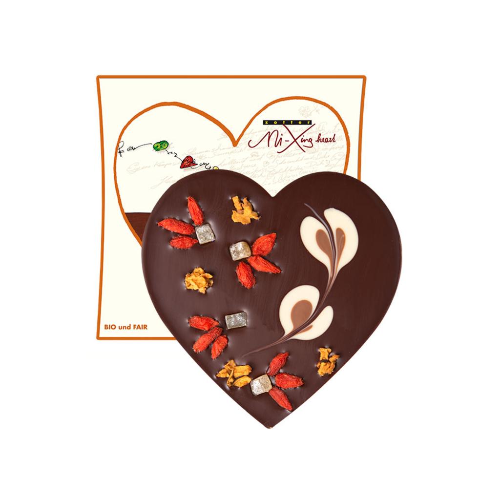 Zotter Chocolate L'Amour Intense Vegan Dark Chocolate Heart