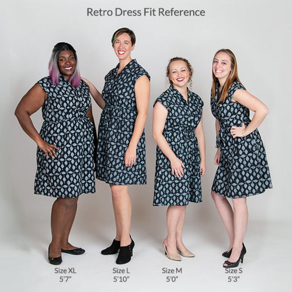 Global Mamas Navy Sisters Retro Dress