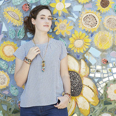 World Finds Cascading Kantha Necklace