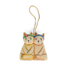 Ten Thousand Villages Cat Buddies Ornament