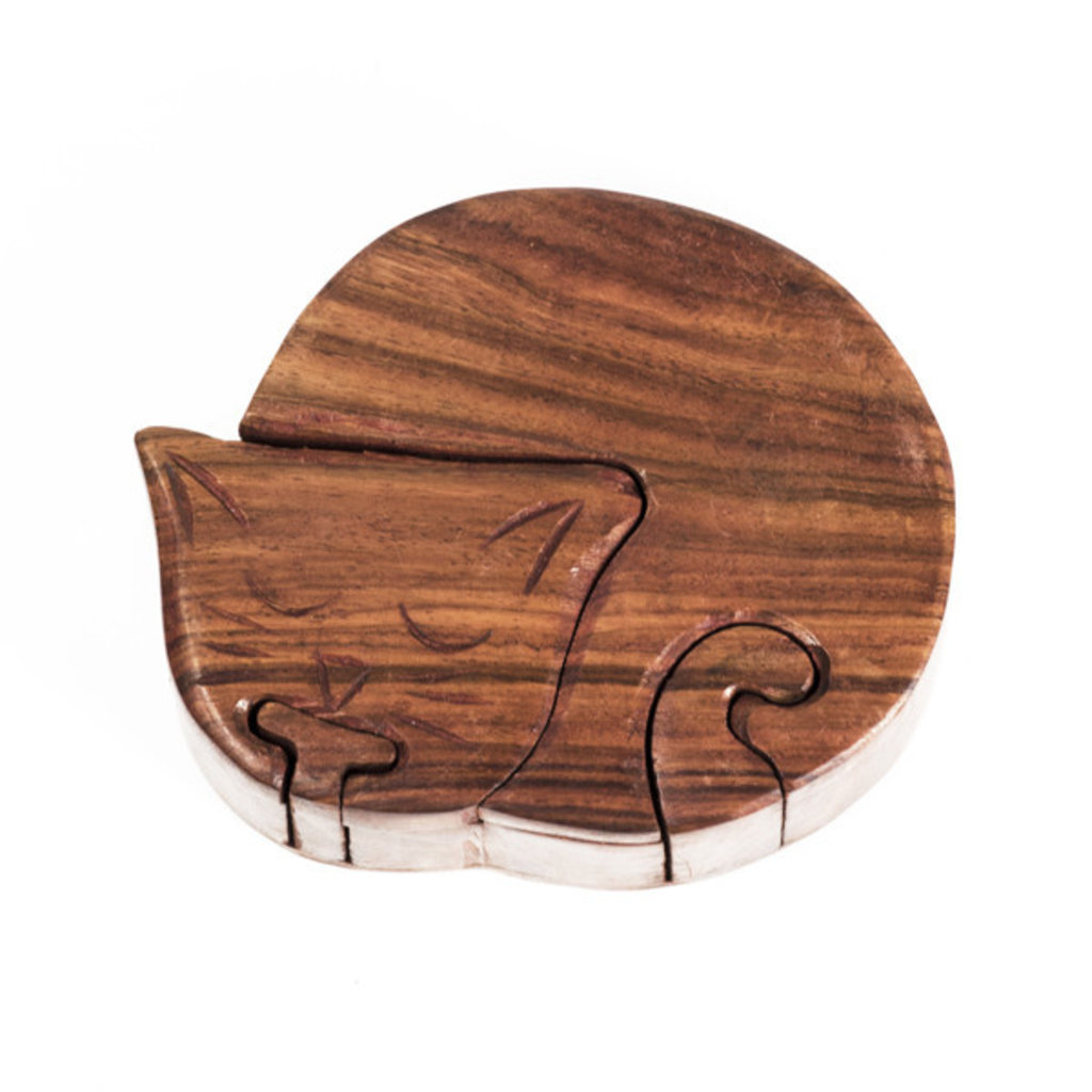 Matr Boomie Cat Wooden Puzzle Box