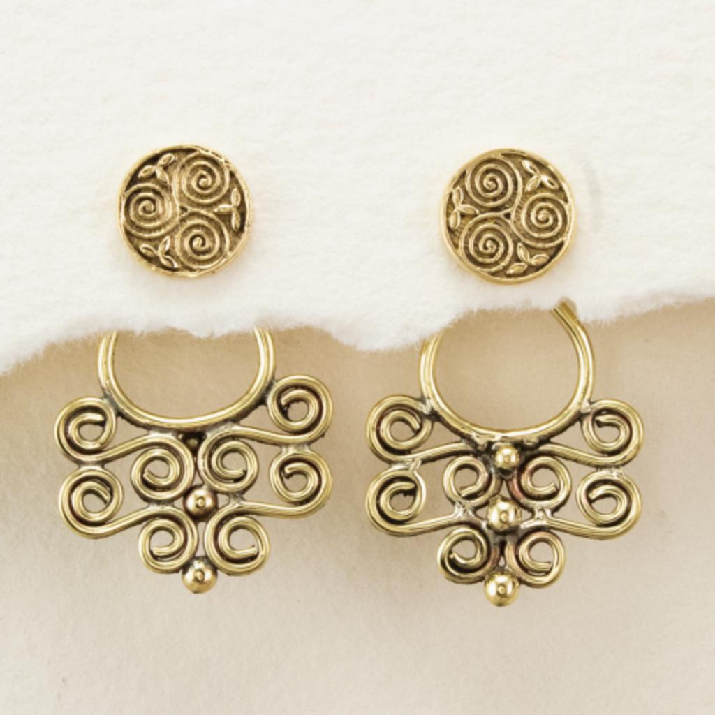 DZI Handmade Celtic Spiral Earrings