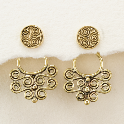 DZI Handmade Celtic Spiral Earrings