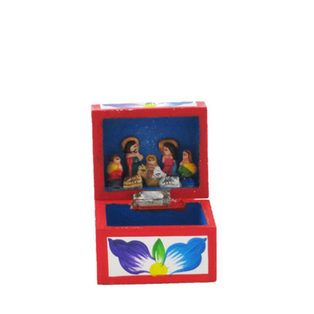 Inter-American Trading Chest Retablo Nativity Small