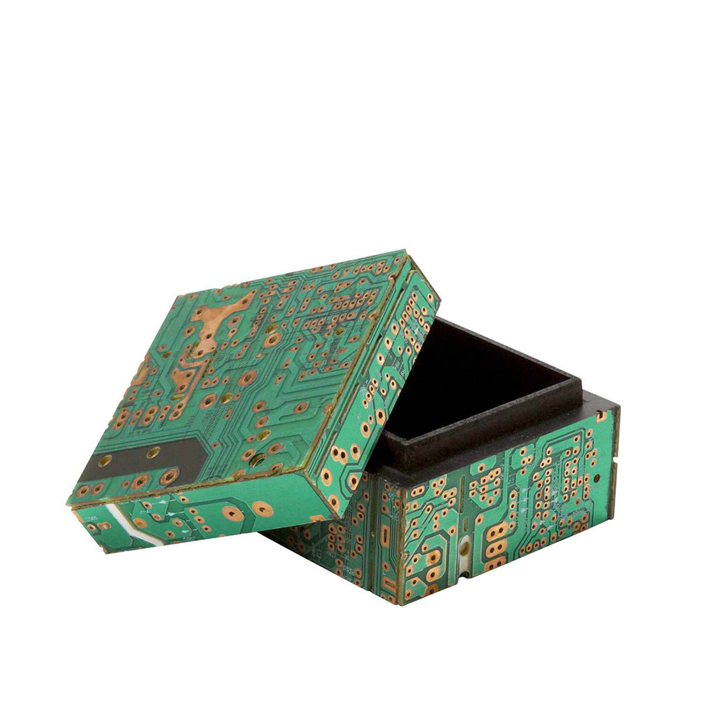 Ten Thousand Villages Circuit Board Keepsake Box